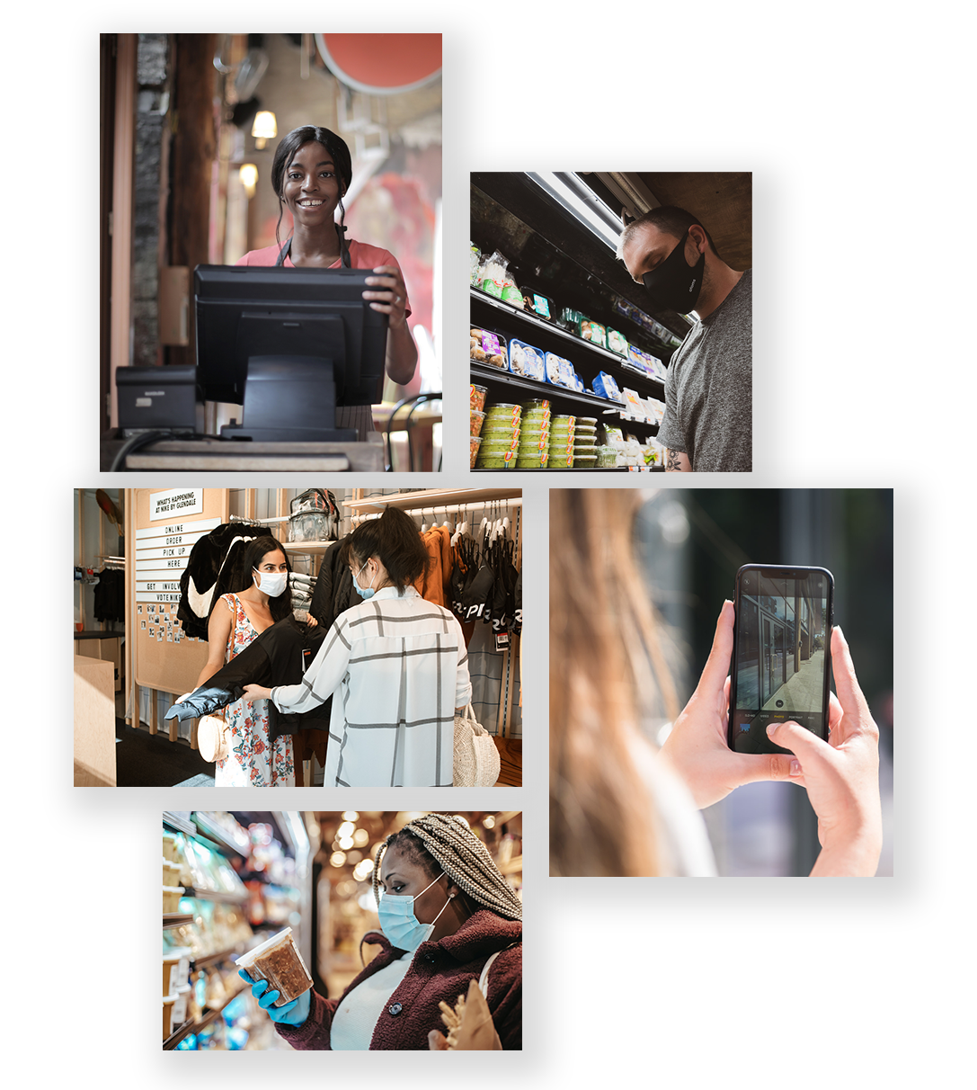 mystery shopping collage